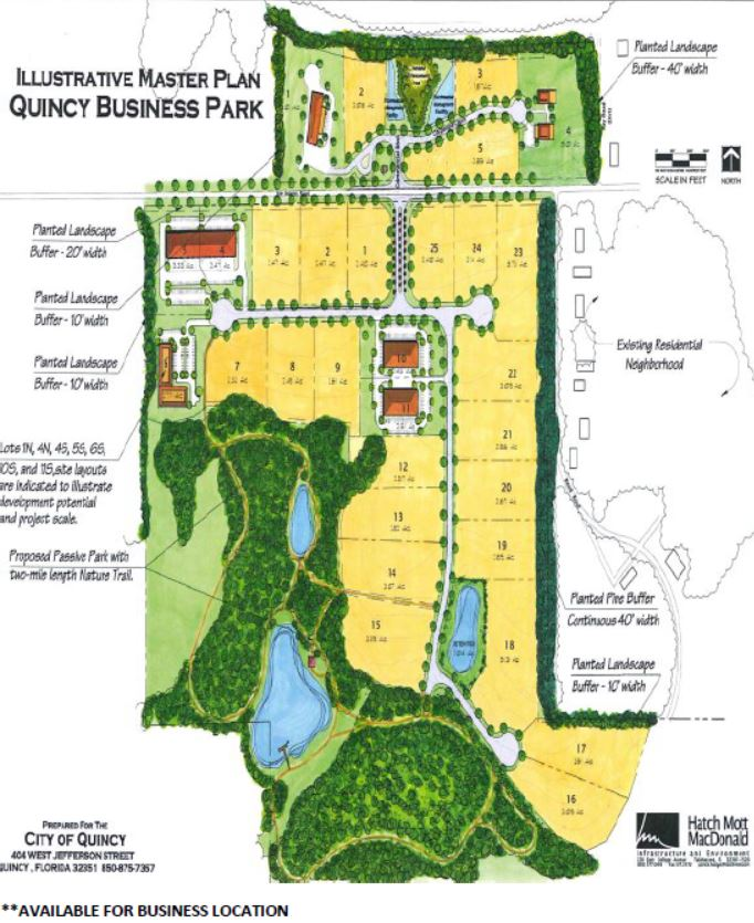 Quincy Business Park Map