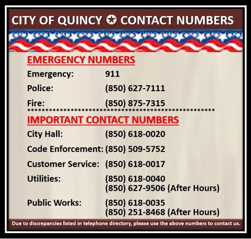 Emergency Contact Numbers for Web