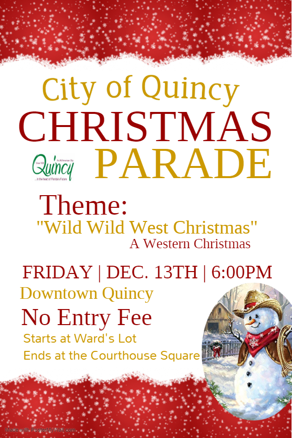 City of Quincy Christmas Parade @ Starting at Ward's Lot