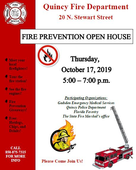 Fire Prevention - Open House @ Quincy Fire Department