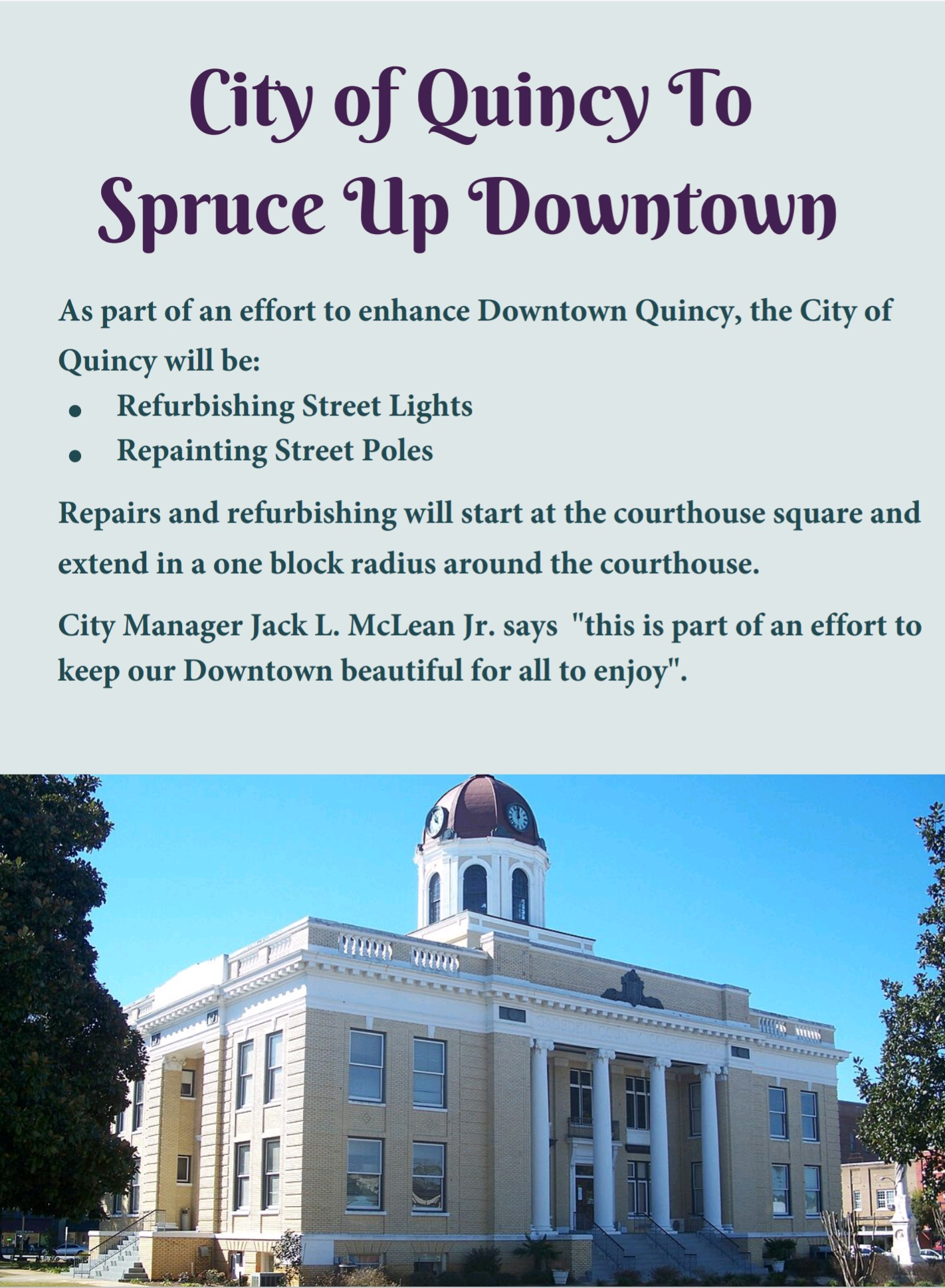 Sprucing Up Downtown