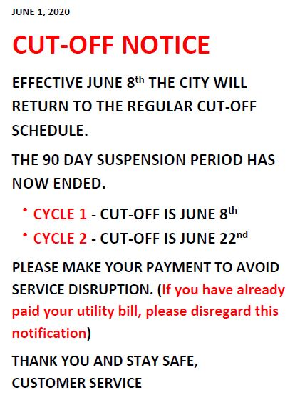 Cut-off to Resume