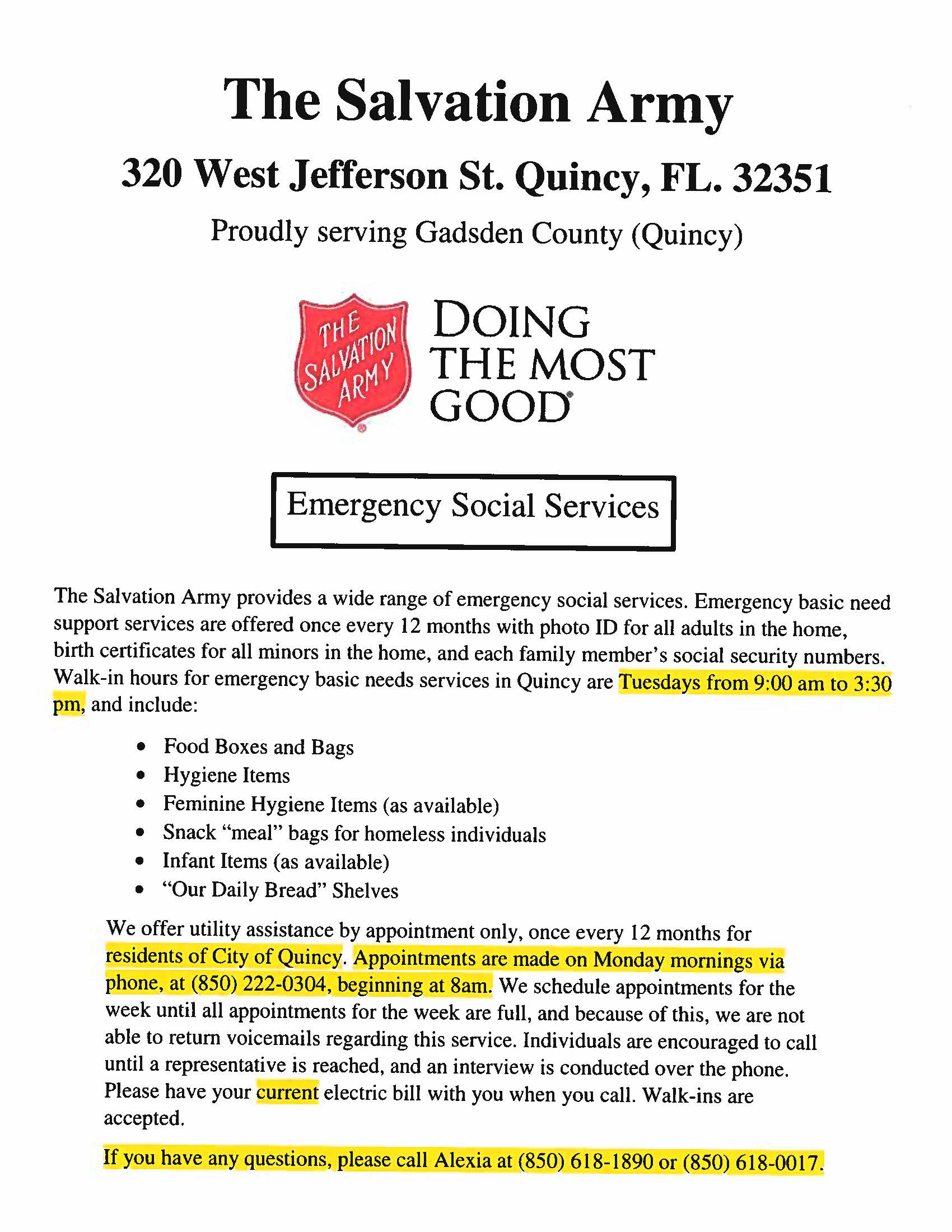 Salvation Army Flyer